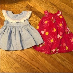 Baby girls dresses. Size 6-12 months